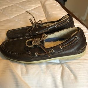 Sperry fur filled winter boat shoes 9 men